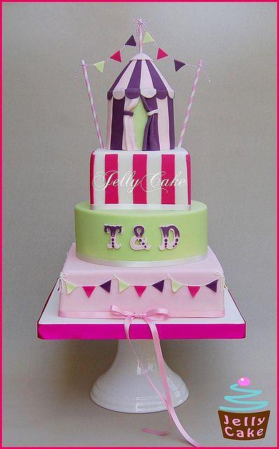 Village Fete Wedding Cake by www.jellycake.co.uk, via Flickr