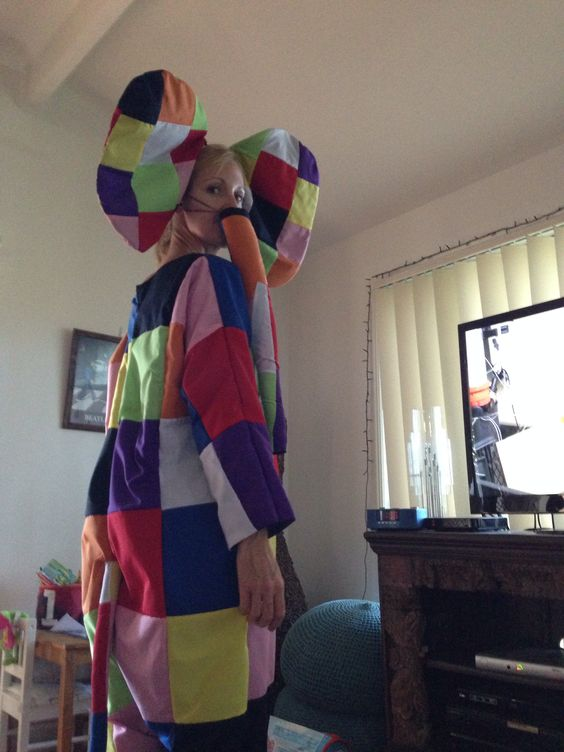 Elmer the elephant costume for book week :)