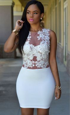 $41.99 Sizzling Floral Lace Bodice Mini Club Dress