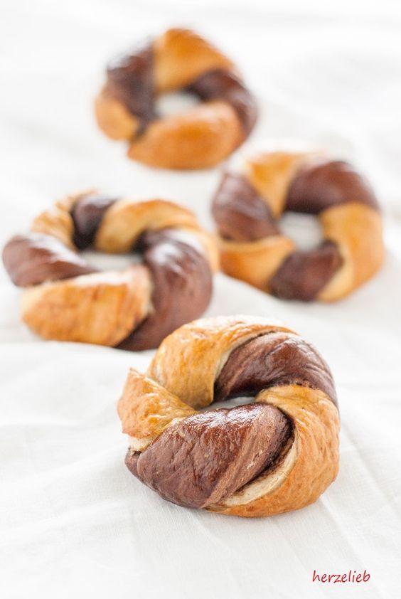 Nutella Kringel Babel - Variante Hefeteig