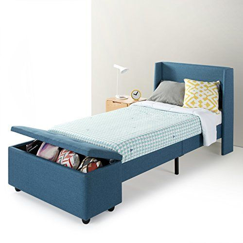 Best Price Mattress Twin Bed Frame Modern Upholstered Platform Beds With Headboard And Bedside Storage Ottoman No Box Twin Bed Frame Twin Bed Headboard Bed