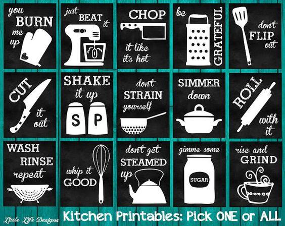 Küche Dekor. Art der Küche-Utensil. Küche Wandkunst. Lustige Küche Tafel Zeichen. Peitsche es gut. Nur Beat It. Roll mit It. Küche Kunst.