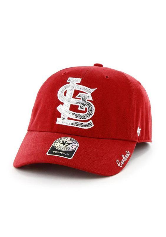 st louis stl cardinals 47 brand sparkle womens hat