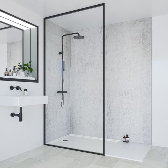 Classic Bathroom Wall Panel Arctic Stone Hydrolock Tongue And Groove 2400 X 900mm Mp3331shr9hltg17 In 2020 Bathroom Wall Panels Bathroom Wall Stone Bathroom