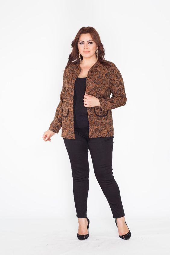 Luxury Wholesale Plus Size Pie de Poule Woman Jacket