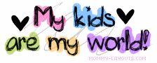 I love my kids!! I enjoy spending time with them