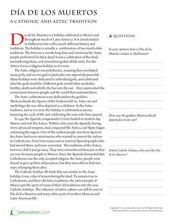 Printables Dia De Los Muertos Worksheets collection of dia de los muertos worksheets bloggakuten in spanish intrepidpath