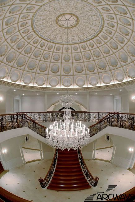 Italian Villa Style Mansion With Huge Dome Ceiling 39 T