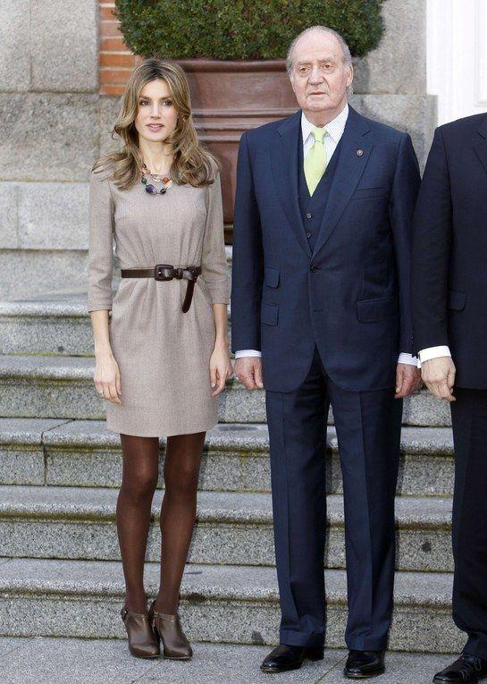 La Princesa Letizia junto a Don Juan Carlos
