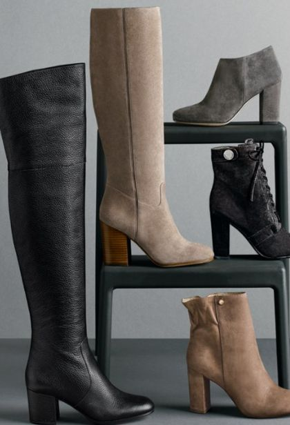 beautiful styles of block heel boots