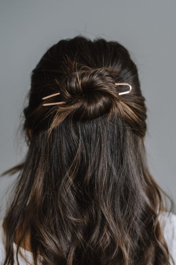 How To Do A Half Up Bun With A Pin | My Style Vita