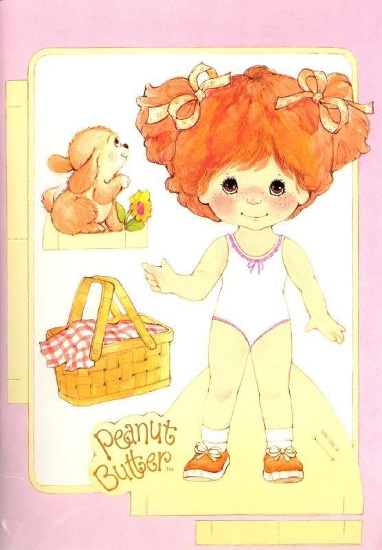 Peanut Butter & Jelly paper dolls