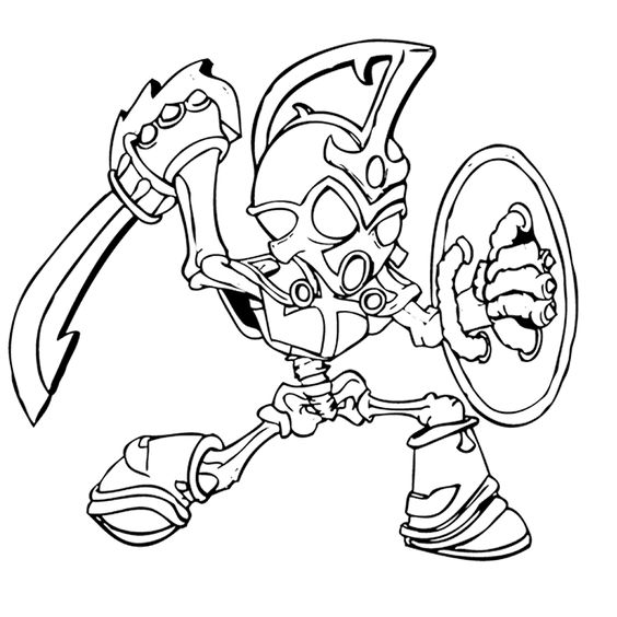 Best Skylander Coloring Pages Chop