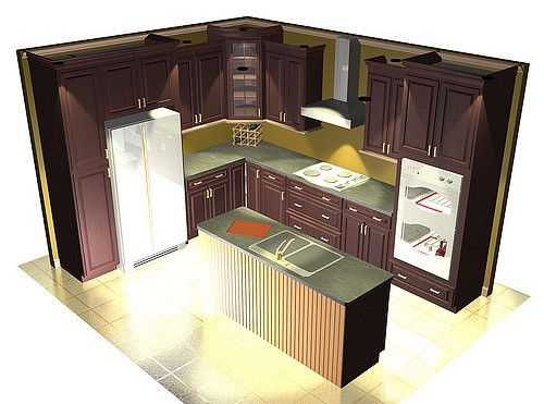 Corner Stove Staggered Cabinets Staggered Kitchen Cabinets Corner Stove