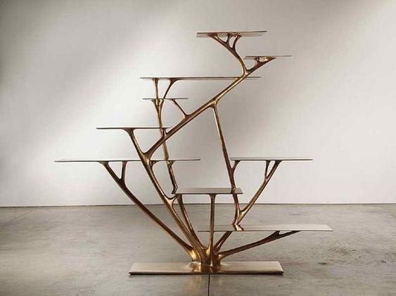 Tree Branch Shelf Scenic Furniture Fabulous Gold Tree Branch Bookshelf Design Ideas For Premium