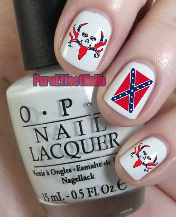 Rebel flag bone collector nail decals by pureeffectnails on etsy rebel flag bone collector nail decals by pureeffectnails on etsy 400 prinsesfo Gallery