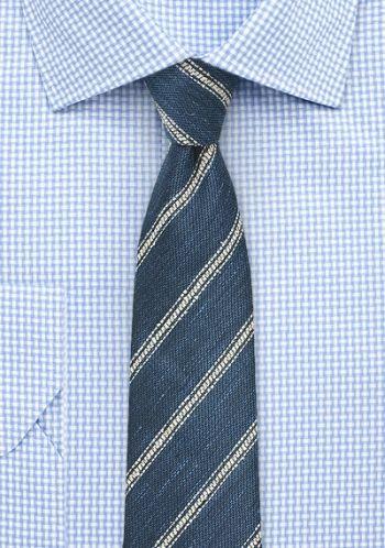 Krawatte Denim-Optik navyblau
