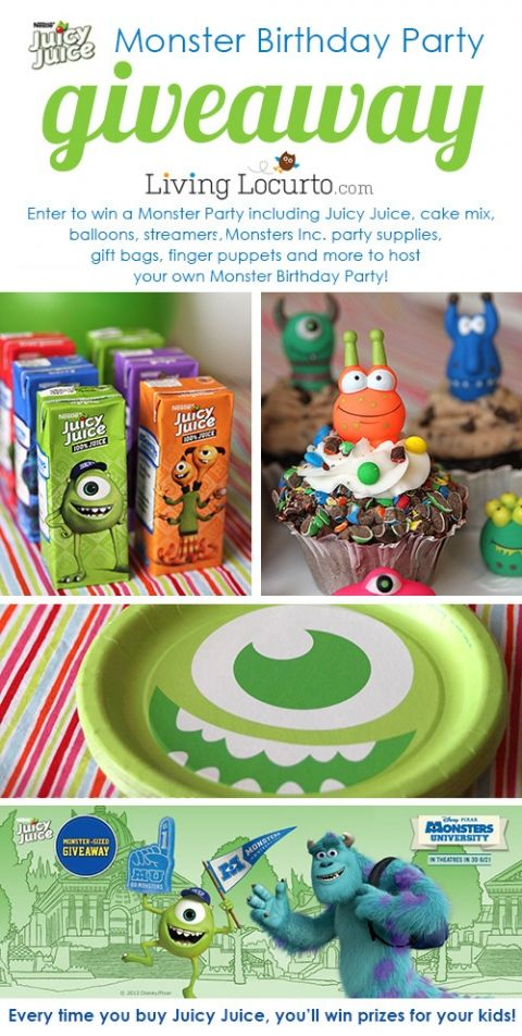 Monsters university birthday party free printables