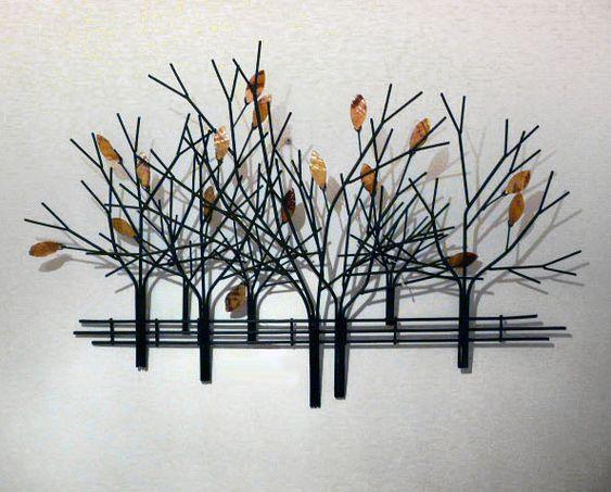 Autumn Tree Scene Metal Wall Art