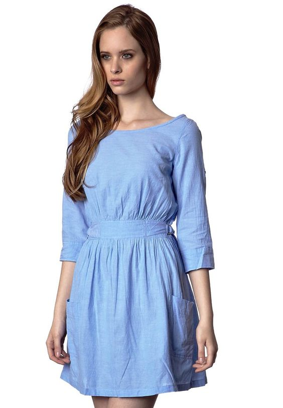 baby blue dress with pockets