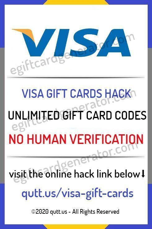 Visa Free Gift Cards Code Generator No Survey No Human Verification 2020 Free Visa Free Gift Visa Gift Card Free Gift Cards Online Gift Card Generator