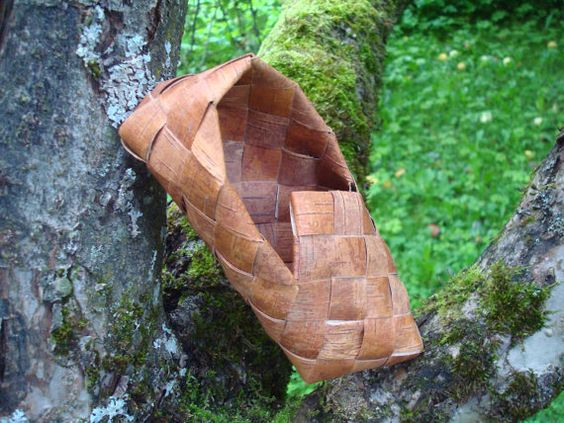 Scandinavian Vintage Birch Bark Shoe Handwoven by OLaLaVintage, $8.00