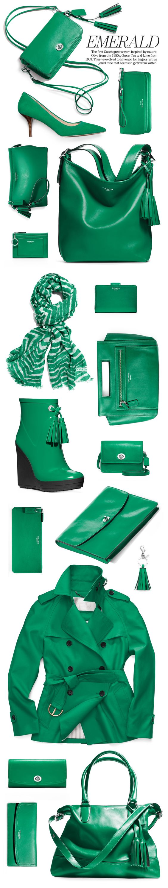 Shop the Coach Legacy Collection in Emerald Green