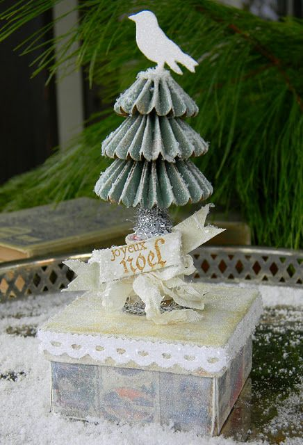 Shelly Hickox rocks it again!  Love what she did with the Tim Holtz Rosette Tree!
