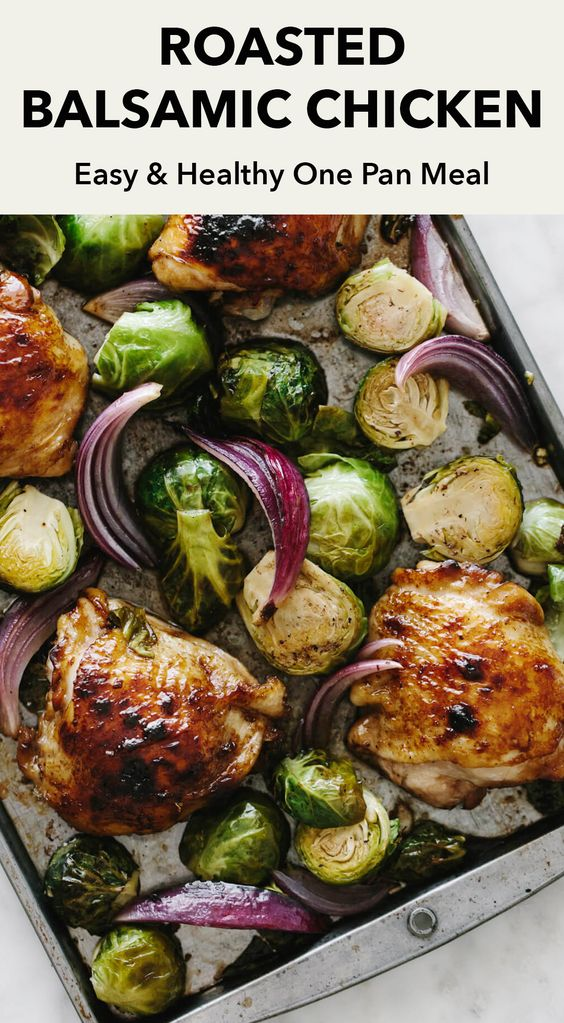 Roasted Balsamic Chicken with Brussel Sprouts