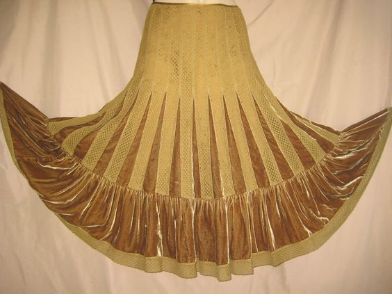 Free People maxi full Skirt gypsy Brown godet Lace