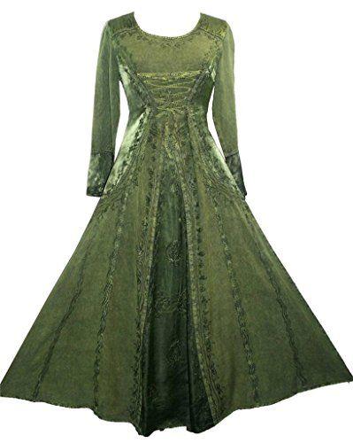 430628 DR Vampire Renaissance Gothic Long Dress [Green; Large] Agan Traders http://www.amazon.com/dp/B00PTBPJ56/ref=cm_sw_r_pi_dp_kgZzvb1C9DM5G