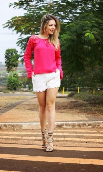 Look Branco + Rosa