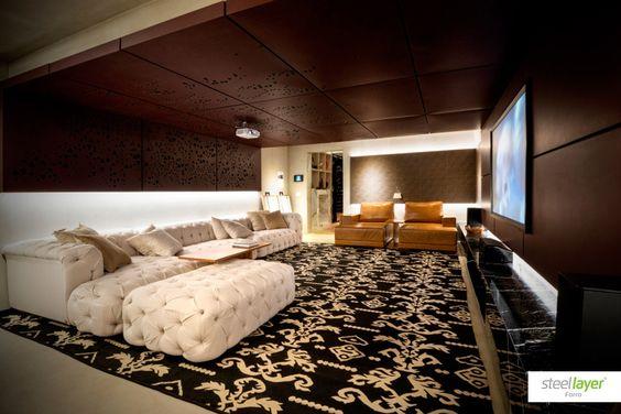 #steellayer #decor #decoracao #aco #aço #forro #versatilidade #estampa #print #inovacao #sofisticacao #design #arquitetura #architecture #home #room #livingroom #comfort #conforto