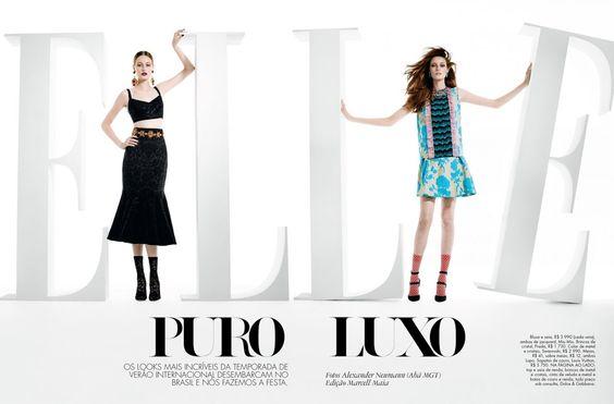 awesome Thairine Garcia é puro luxo nos cliques de Alexander Neumann para Elle Brasil Maio 2015