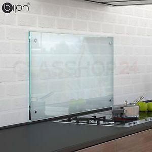 6mm ESG Glas Küchenrückwand Fliesenspiegel Glasplatte Rückwand Spritzschutz | eBay