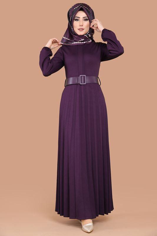 Piliseli Tesettur Elbise Mdp4087 Murdum Elbise Modelleri Elbise Moda Stilleri
