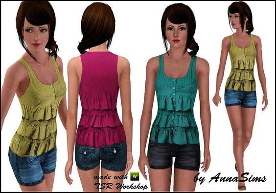 Pretty feminine outfit by AnnaSims2