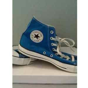 Blue unisex converse (m8,f10)