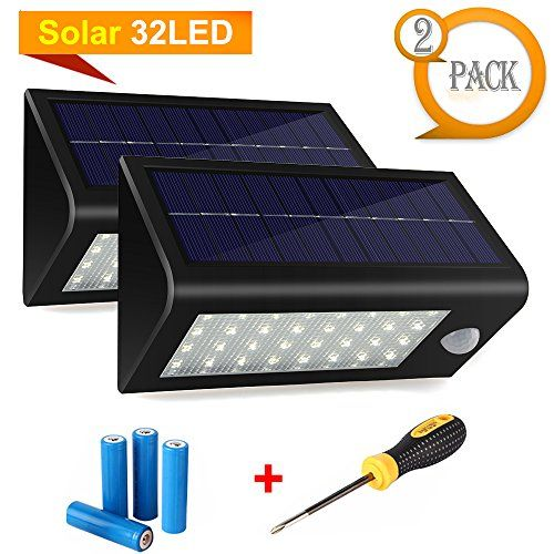 Batteries For Solar Lights Outdoor: Max Solar Lights, Hallomall Waterproof Solar Powered Outdoor Motion Sensor  Lights,with Lithium Batteries + Intelligent Modes,Wireless Exterior  Security ...,Lighting