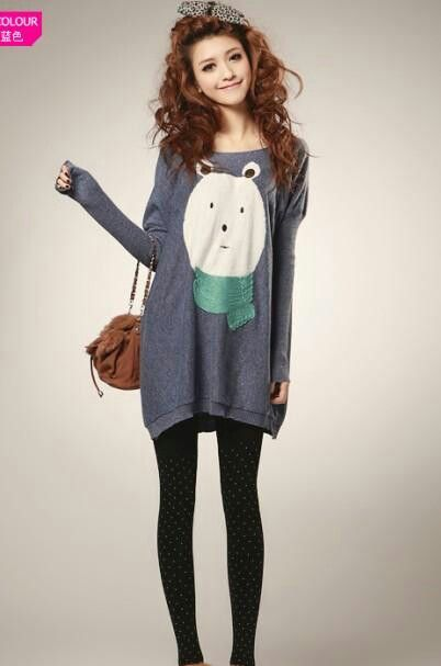 Aww Huge Oversized Sweater Shirts With Something That Will Make You Smile On The Top... And Of ...