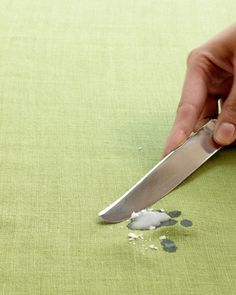 People are so smart! removing wax from table cloth