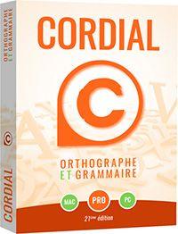 Le correcteur d'orthographe et de grammaire Cordial