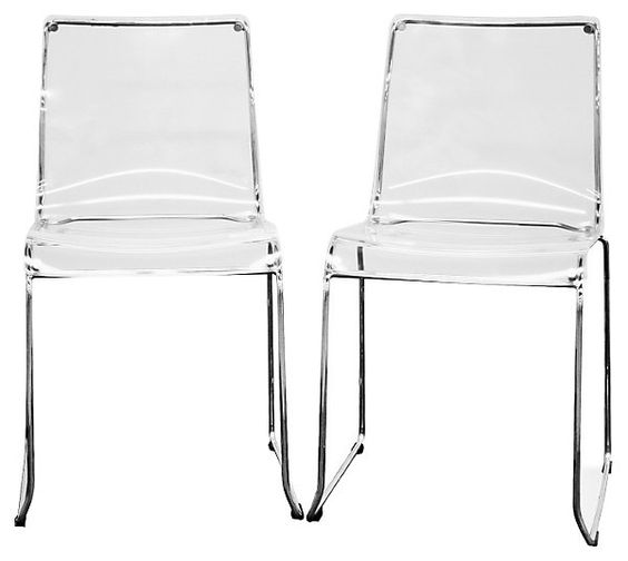 Clear Acrylic Lino Dining Chairs, Pair | Dining Area Furniture | One Kings Lane