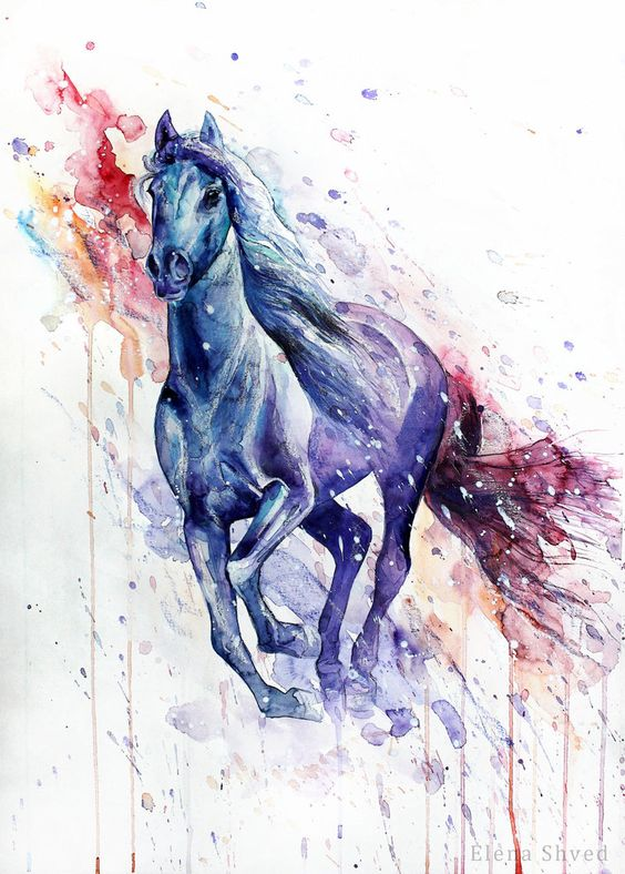peinture chevaux wallpaper - photo #45
