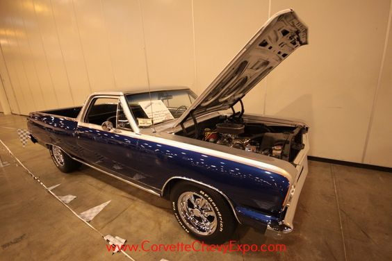 """This is a 1964 Chevrolet El Camino and is owned by Alan Ratjen & Hayden Ratjen.  It's a """"Real Knock Out!""""  This beautiful Vintage E Camino has the Chevrolet 350 engine in it and is on display at the 37th Corvette Chevy Expo last February in Houston, Texas."""