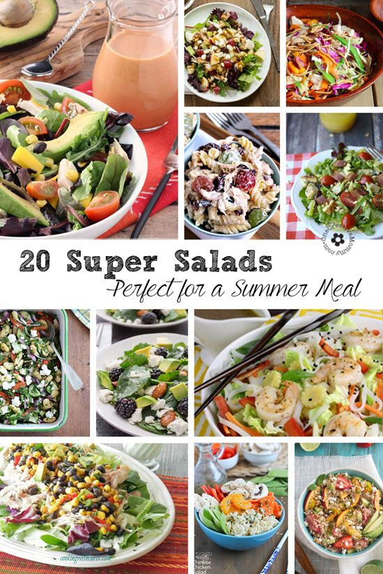 20 delicious main dish salad recipes for summer salad