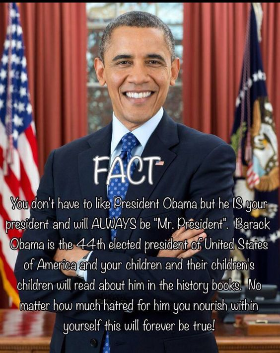 President Barack Obama....Respect.