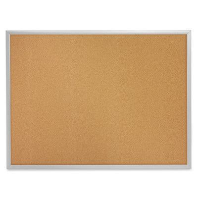 "Quartet Wall Mounted Bulletin Board Size: 24"" H x 36"" W, Finish: Aluminum"