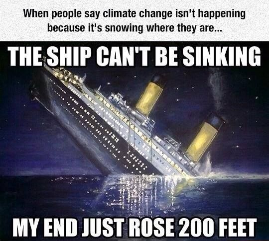 The ship can't be sinking; my end rose 200 ft