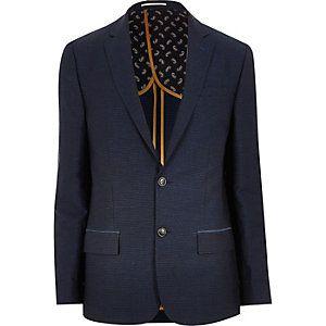 Blue smart slim blazer